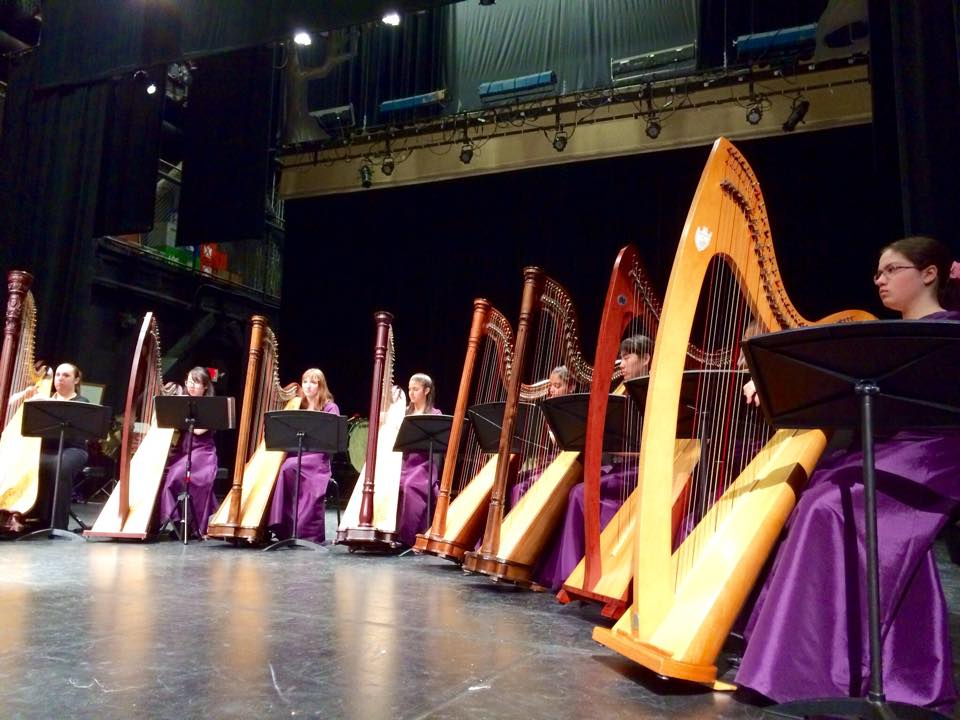 Harp Ensemble Concert no3 1_25_15