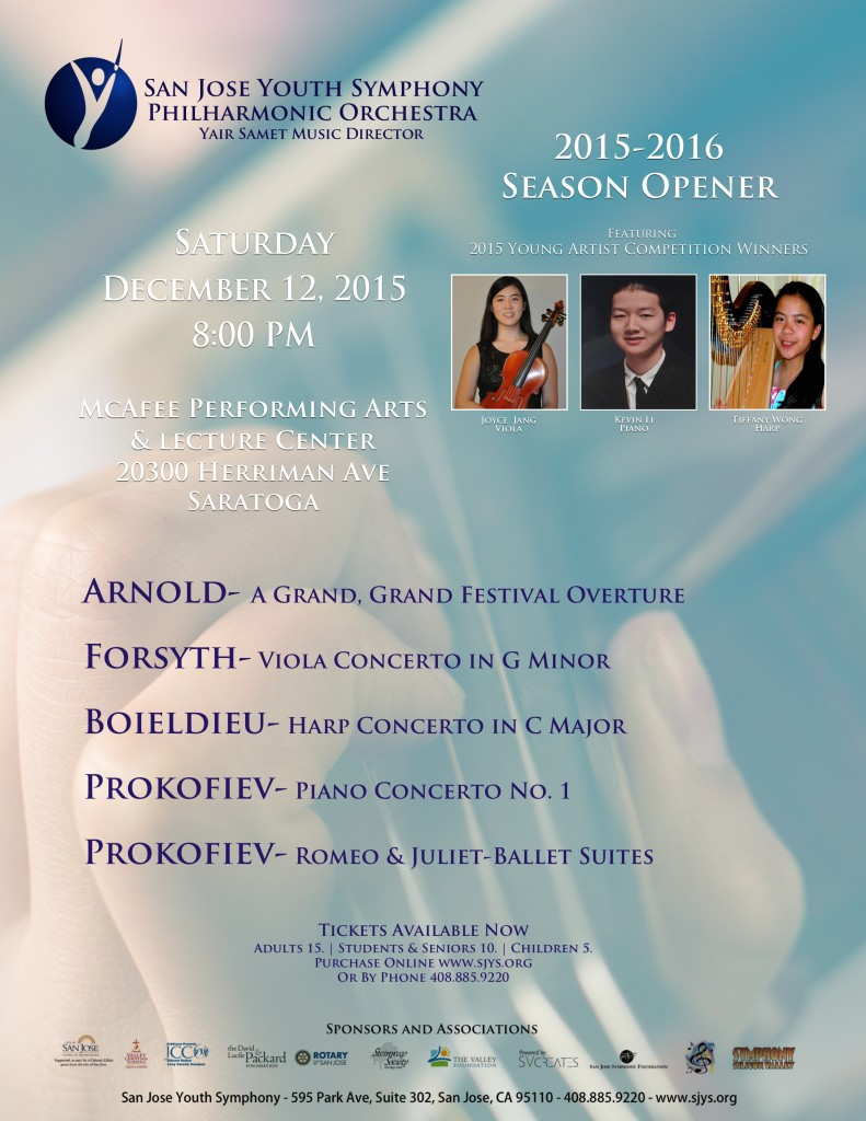 SJYS Phil Season Opener Concert Poster 12_2015